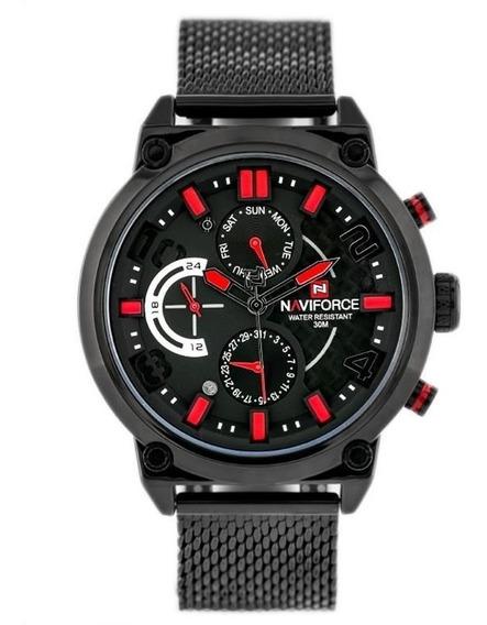 Reloj Naviforce Original Powered By Epson Seiko Japan Quartz