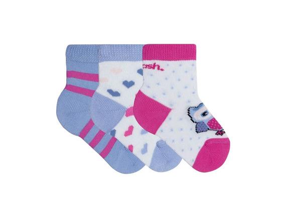 Meia Baby Infantil Estampada Kit Com 3 Pares Mash 202.07