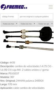 Cable Comando Palanca Cambio Peugeot 307 1.6 16v Citroen C4