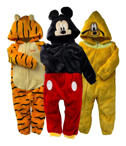 Kit 3 Mamelucos Disney Tigger, Mickey Carita, Pluto A Precio