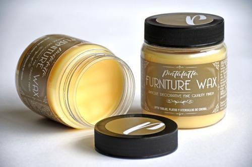 Imagen 1 de 3 de Pintalatte Furniture Wax Cera Natural Premium Neutra Muebles