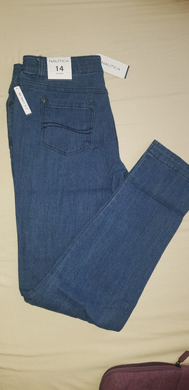 Pantalón Náutica Skinny Fit Light Blue De Niño