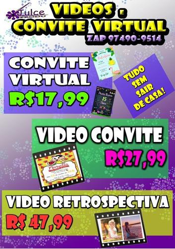 Convite Virtual Convite Animado, Vídeo Convite Retrospectiva