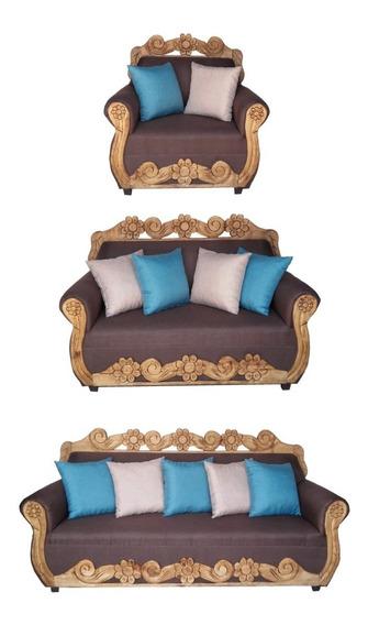 Salas 3,2,1 Sillones Love Seat Sofás Azteca Rusticos Tapiz