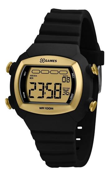 Relógio X-games Masculino Digital Xlppd053 Preto Dourado
