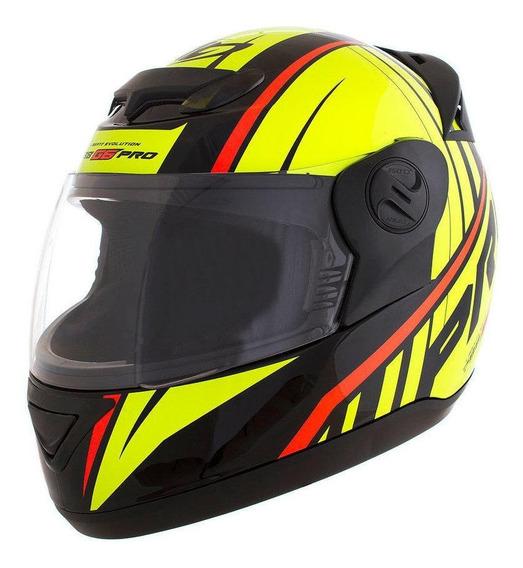 Capacete para moto integral Pro Tork Evolution G6 Pro Color preto, amarelo tamanho 56