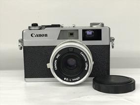 Câmera Canon Canonet 28 (analógica).