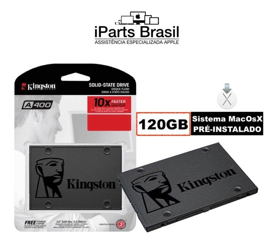 Hd Ssd Macbook iMac Mac Mini Kingston 120 Gb Sistema Apple ®