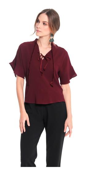 3d544de1d6d6 Blusas Color Vino Tinto Para Mujer - Ropa y Accesorios en Mercado ...