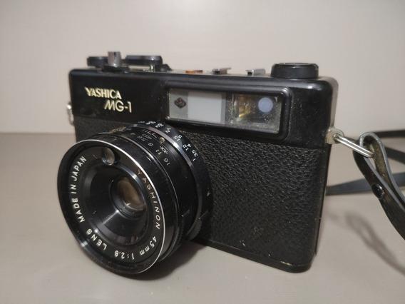 Câmera Fotográfica Analógica Antiga Yashica Mg-1