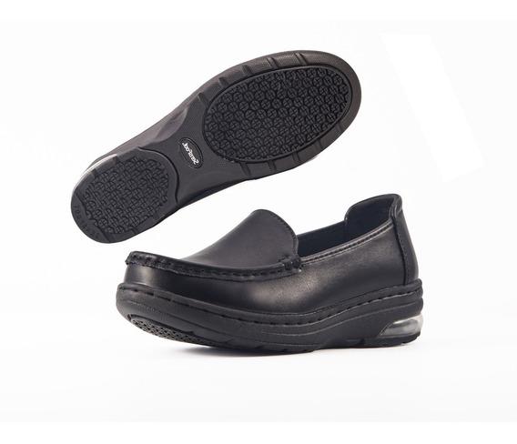 Zapato De Confort, Chef, Dama Sensfoot Piel, Antiderrapante