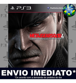 Metal Gear Solid 4 Ps3 Mídia Digital Envio Agora