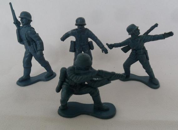 Soldadinho Gulliver Brinquedo De Plástico Boneco Antigo 4 Un