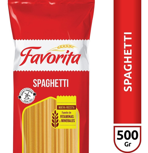 Fideos Spaghetti Favorita X500 Gr