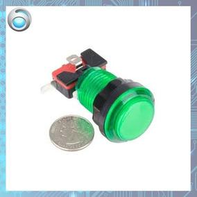 Botão Iluminado Fliperama Arcade Verde