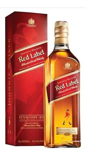 Whisky Johnnie Walker Red Label 1l Original Com Nota E Selo