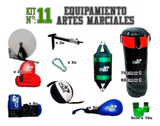 Kit Nº11 Equipamiento Artes Marciales Full Box Incluye......