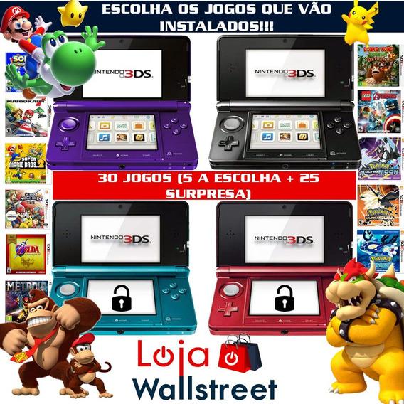Nintendo 3ds Pokemon Mario Zelda Smash Dk 30 Jogos C/case