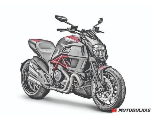 Motobolha Ducati Diavel 2015+ Fumê Claro Com Suporte