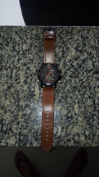 Relógio Masculino Naviforce Esportivo Militar Pulseira Couro