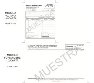 Facturas Fiscales Block Talonarios Seniat, Tamaño 1/4 Carta