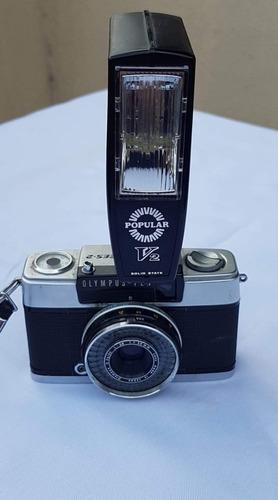 Máquina Fotográfica Olympus Pen + Flash Funcionando