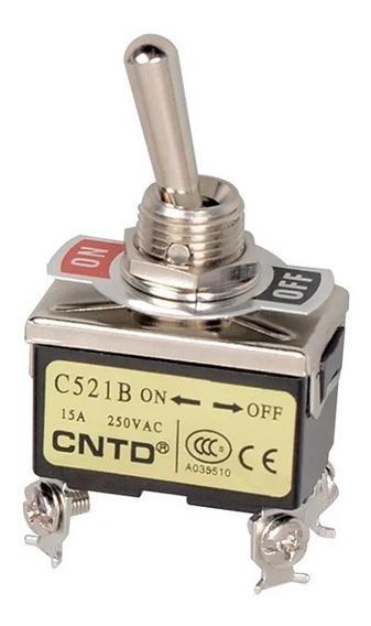 C521b Cntd Interruptor Cola De Rata 2p+ 1t On-off Estable