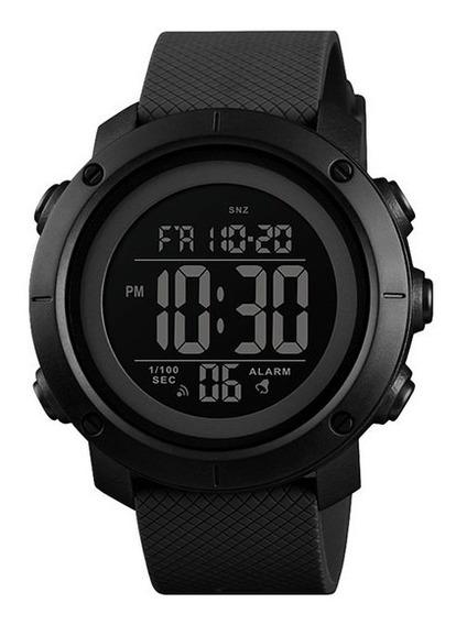 Relógio Masculino Digital All Black Todo Preto Skmei 1434