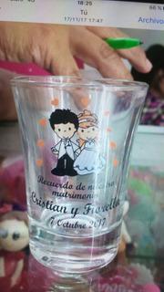 Shots Vasitos Pisqueros Recuerdo Matrimonio Misa Cumpleaños