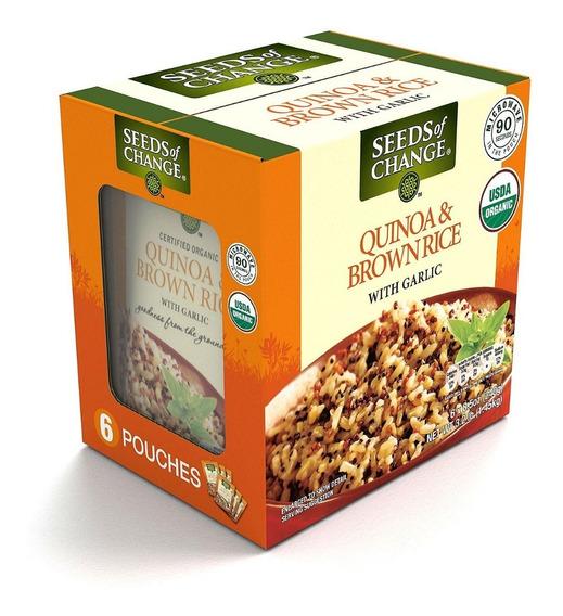 Seeds Of Change Quinoa Orgánica Y Arroz Integral Con Ajo