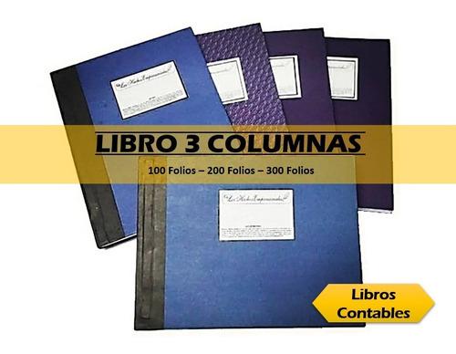 Libros 3 Columna O Diario O Mayor