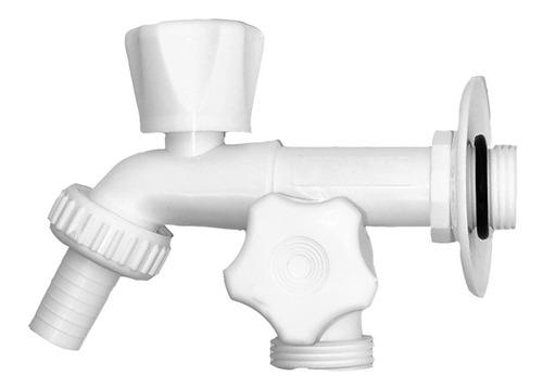 Imagen 1 de 6 de Canilla Plástica Doble Lavarropas  Aquaflex - Clavb