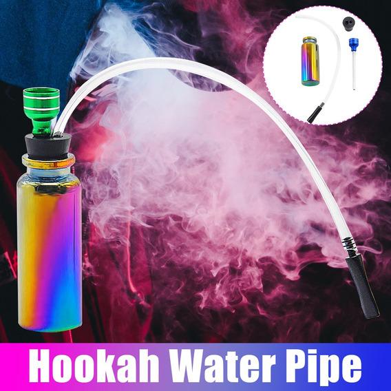 Hookah Portátil Shisha Smoking Pipe Vidro Colorido Tabaco Ág