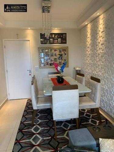 Maravilhoso Apartamento Para Venda No Condomínio Nações Clube - Barueri - Sp- Confira! - Ap2095