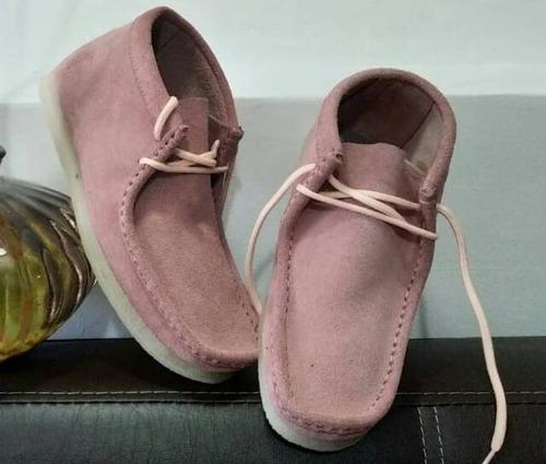 Zapato Artesanal Para Dama Mas Kit De Lavado( Palo Rosa)