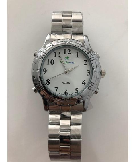 Relógio Masculino Falante Prata