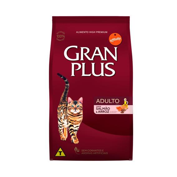Ração Granplus Para Gatos Adultos Sabor Salmão E Arroz - 10kg