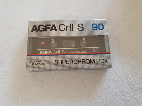 Fita K7 Agfa Super Chrome Alemã Raríssima Nova Lacrada