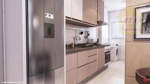 Apartamento Com 2 Dormitórios À Venda, 53 M² Por R$ 248.400,00 - Vila Guilhermina - Praia Grande/sp - Ap3645