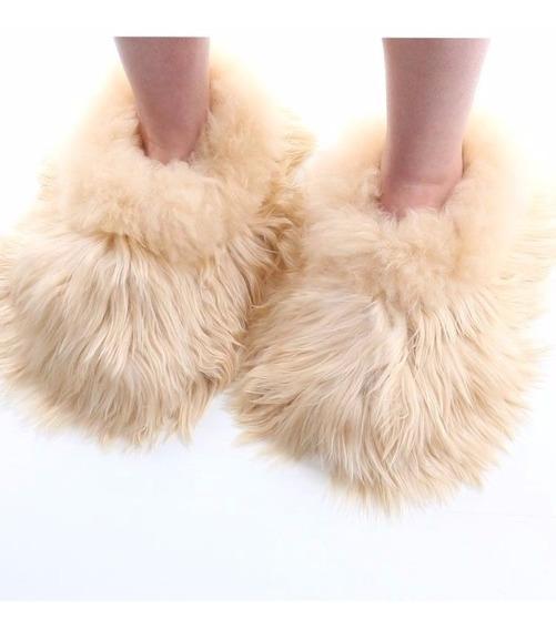 Fur Slippers - Pantunflas De Alpaca / Artesania Peruana