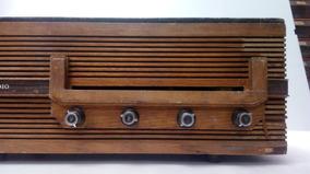 Rádio Motoradio Em Madeira Funcionando, Leia.