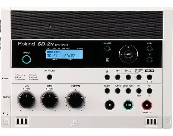 Gravador Digital De Áudio Roland Sd-2u C/ Controle E Case