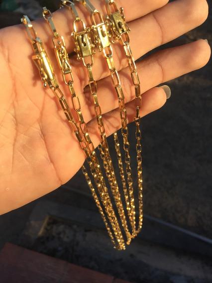Cordão De Moeda Antiga Banhado A Ouro 18k