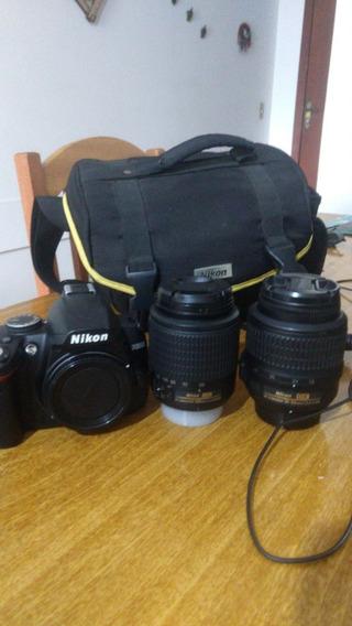 Camera Profissional + 2 Lentes + Cartão 4gb + Carregador Bat