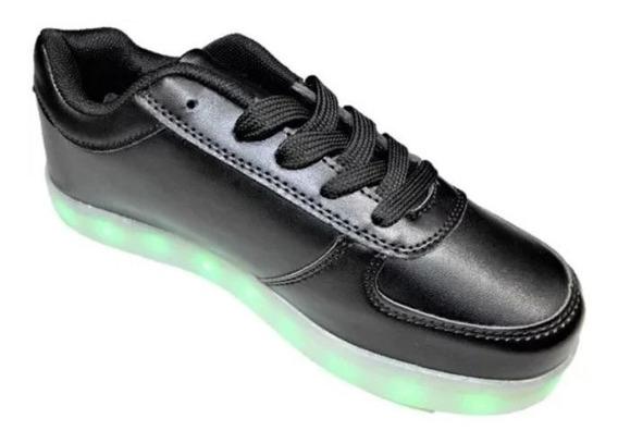 Tenis Led Zapatos Niño Regalo Cargador Usb Ngn23dtt