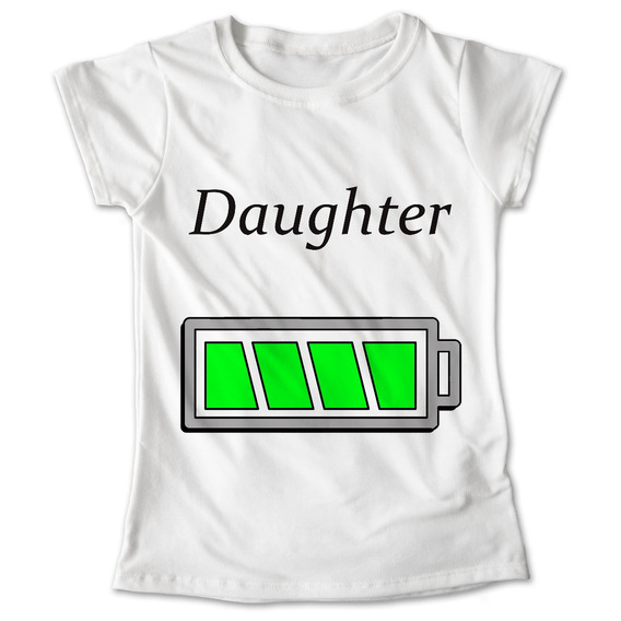 Blusa Daughter Playera Estampado Hija Niña Familia #249