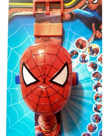 Relógio Digital Infantil Homem Aranha Com 24 Imagens Projeta