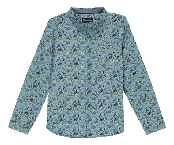 Camisa Estampado Dinosaurio De Niño C&a (mod 1056171)