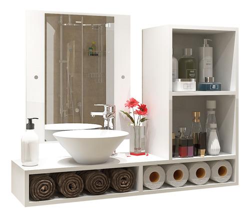 Imagen 1 de 5 de Juego De Baño Repisa Estantería Mueble Sin Bacha