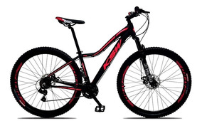 Bicicleta Fem Sunny Aro 29 21v Freio Disco Preto Rosa Ksw
